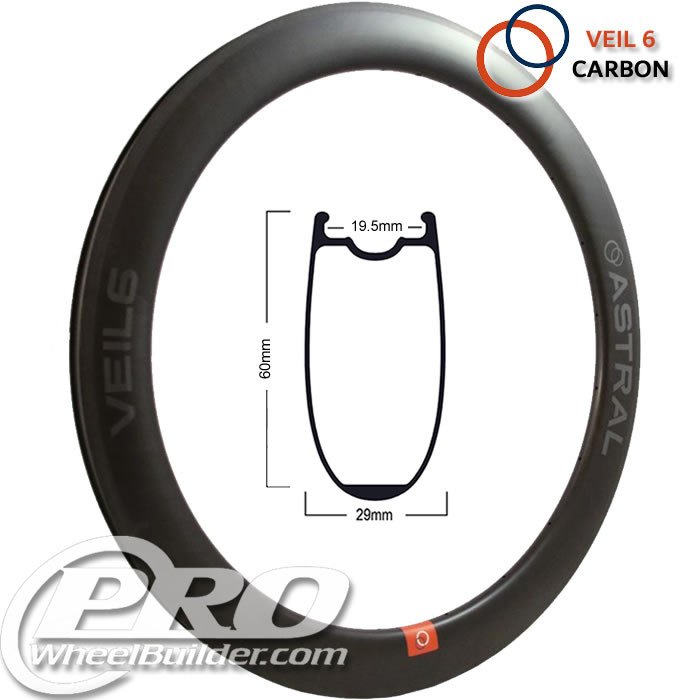 ASTRAL VEIL 6 CARBON MSW BLACK 700C RIM