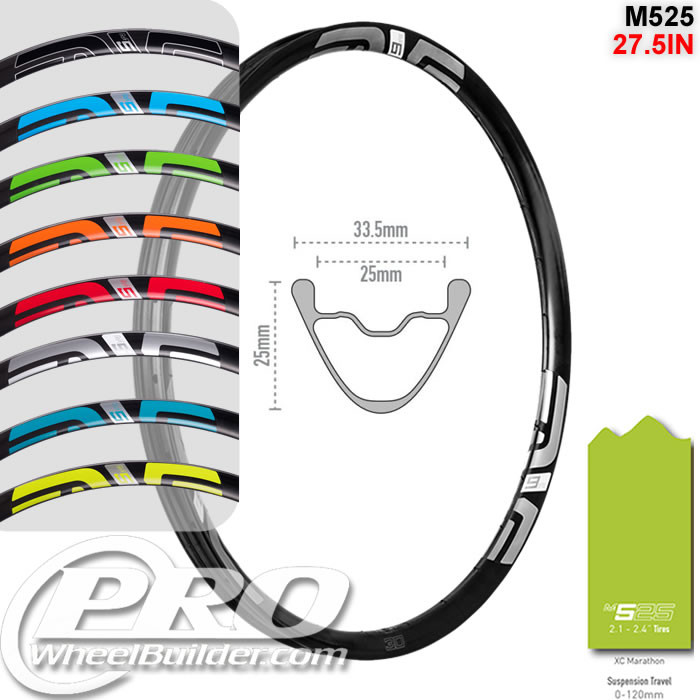 ENVE COMPOSITES M525 27.5IN 650B DISC BRAKE RIM