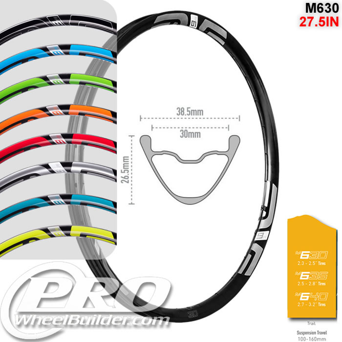 ENVE COMPOSITES M630 27.5IN 650B DISC BRAKE RIM