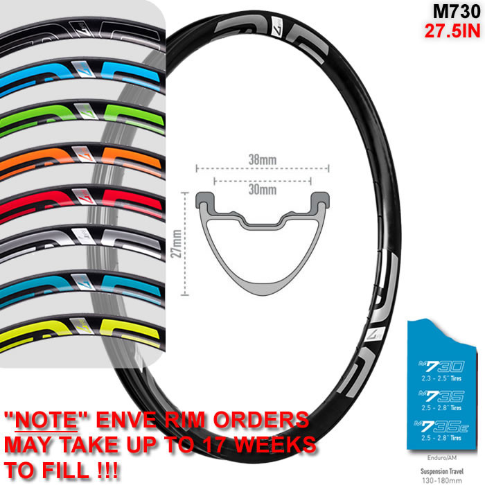 ENVE COMPOSITES M730 27.5IN 650B DISC BRAKE RIM