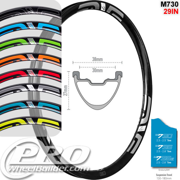 ENVE COMPOSITES M730 29IN DISC BRAKE RIM
