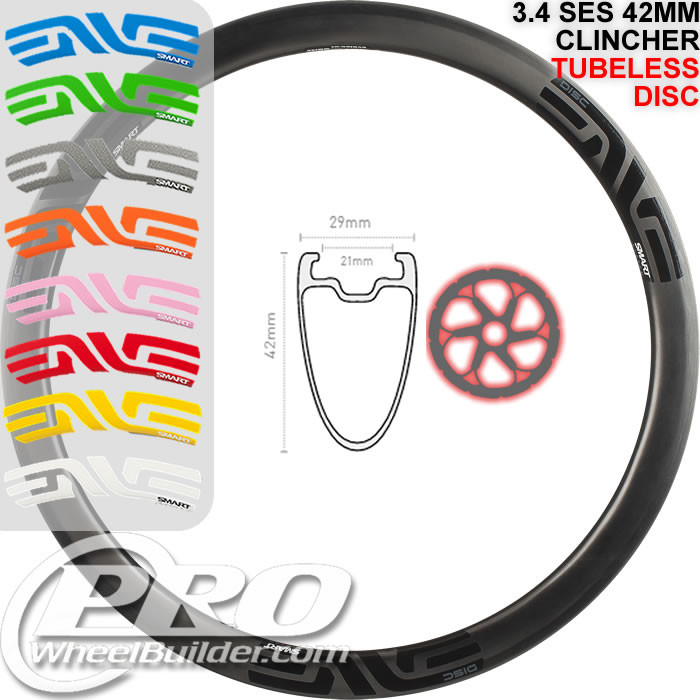 ENVE COMPOSITES SES 3.4 DISC REAR CLINCHER RIM