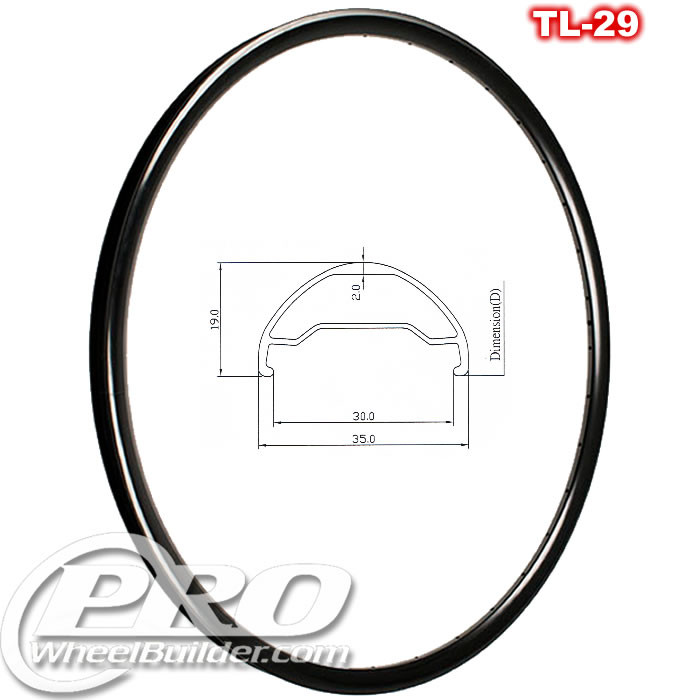 KINLIN TL 29 DISC 29IN BLACK RIM