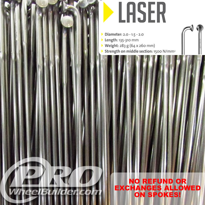 SAPIM LASER J BEND SILVER DOUBLE BUTTED 14|17|14G OR 2.0|1.5|2.0MM SPOKES