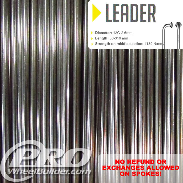 SAPIM LEADER J BEND SILVER 12G OR 2.6MM SPOKES