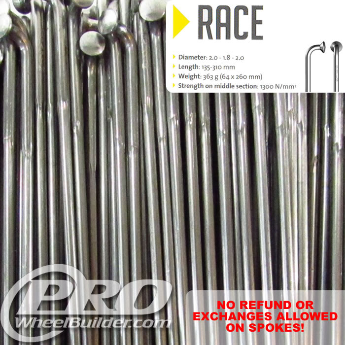SAPIM RACE J BEND SILVER DOUBLE BUTTED 14 15 14G OR 2.0 1.8 2.0MM SPOKES
