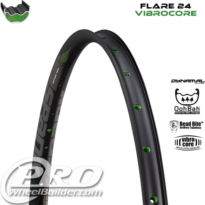 SPANK FLARE 24 VIBRACORE BLACK WITH GRAY DECAL 27.5 IN RIM