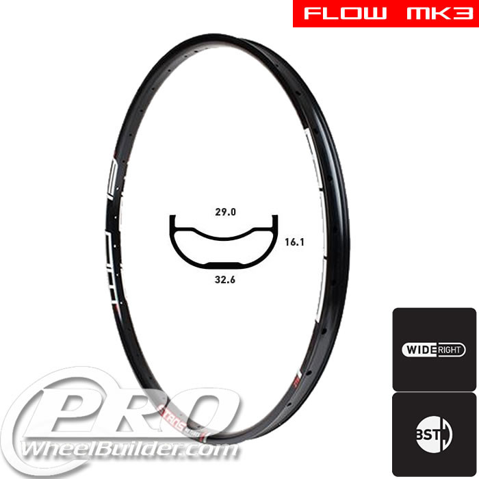 STANS NO TUBES FLOW MK3 DISC BRAKE 26IN BLACK RIM