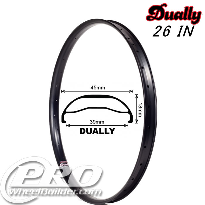 VELOCITY DUALLY 26IN BLACK RIM