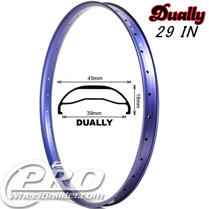 VELOCITY DUALLY 29IN BLUE RIM