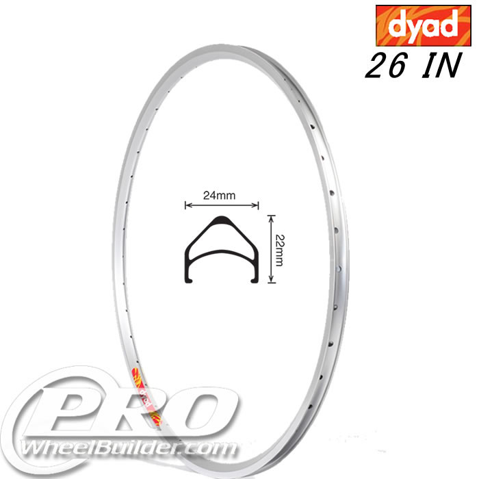 VELOCITY DYAD MSW 26 IN SILVER RIM
