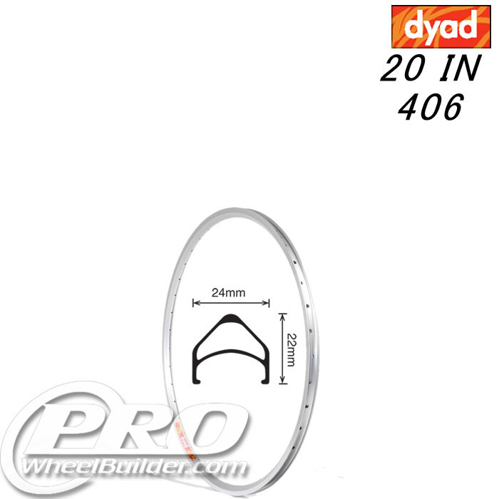 VELOCITY DYAD NMSW 20 IN 406MM SILVER RIM