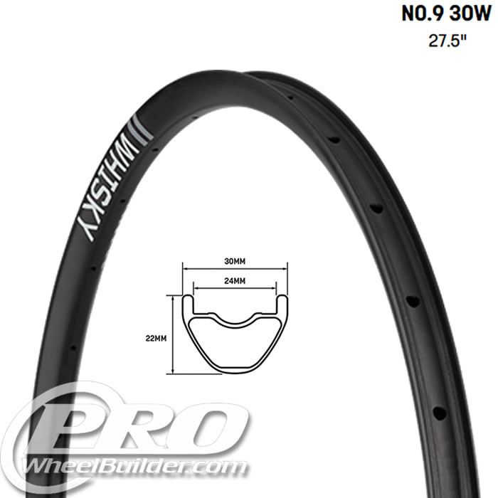 WHISKY NO9 30W 27.5 IN CARBON DISC RIM
