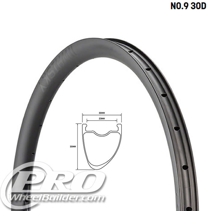 WHISKY NO9 35D GRAVEL 700C CARBON DISC RIM