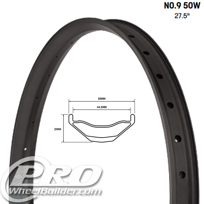 WHISKY NO9 50W 27.5 IN CARBON DISC RIM