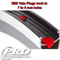 VELOCITY VELO PLUGS RED 7MM TO 8MM HOLES