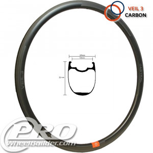 ASTRAL VEIL 3 CARBON MSW BLACK 700C RIM