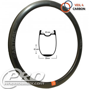 ASTRAL VEIL 4 CARBON MSW BLACK 700C RIM