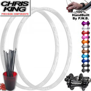 CHRIS KING MOUNTAIN BIKE WHEEL SET PACKAGE