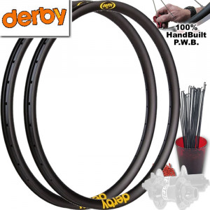 DERBY MOUNTAIN BIKE WHEEL SET PACKAGE