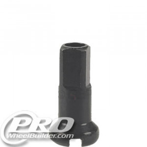 DT SWISS BLACK 14G 12MM BRASS NIPPLE