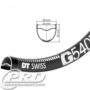DT SWISS G 540 27.5IN BLACK DISC BRAKE RIM