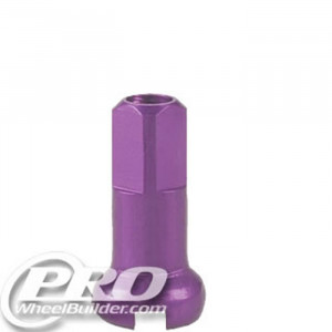 DT SWISS PURPLE ALLOY 14G 12MM NIPPLE