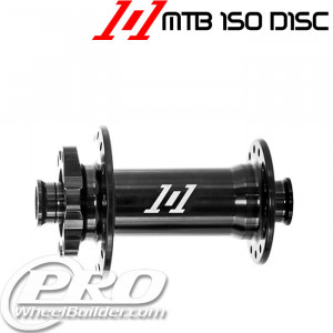 INDUSTRY 9 101 FRONT BLACK ISO 6 BOLT DISC HUB