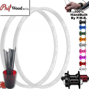 PHIL WOOD MOUNTAIN BIKE WHEEL SET PACKAGE