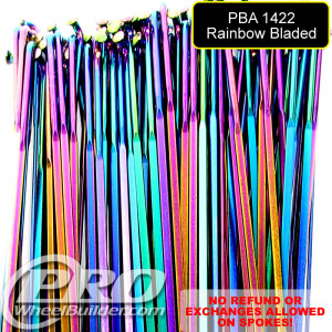 PILLAR PBA 1422 AERO J BEND RAINBOW BLADED 2MM X 2.2MM X 0.9MM X 2MM SPOKES