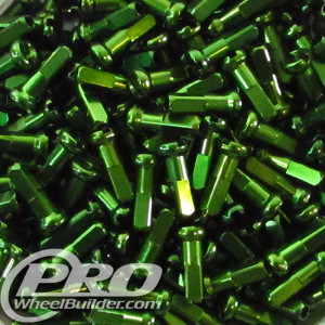 PWB SUPER NIPPLE ALLOY 14MM 14 GAUGE GREEN