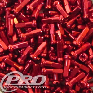 PWB SUPER NIPPLE ALLOY 14MM 14 GAUGE RED