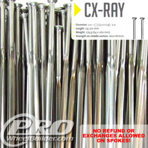 SAPIM CX RAY STRAIGHT PULL SILVER BLADED 14|21|14G OR 2.2|0.9MM SPOKES