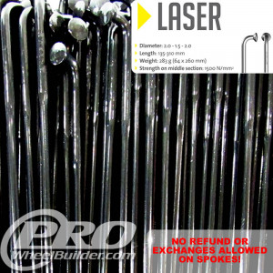 SAPIM LASER J BEND BLACK DOUBLE BUTTED 14|17|14G OR 2.0|1.5|2.0MM SPOKES