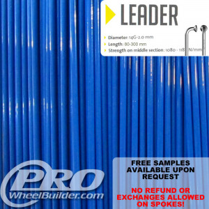 SAPIM LEADER J BEND BLUE 14G OR 2.0MM SPOKES