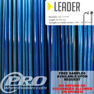 SAPIM LEADER J BEND BLUE CANDY 14G OR 2.0MM SPOKES