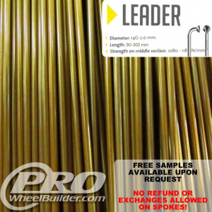 SAPIM LEADER J BEND GOLD CANDY 14G OR 2.0MM SPOKES
