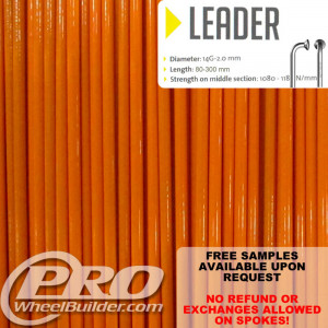 SAPIM LEADER J BEND ORANGE 14G OR 2.0MM SPOKES