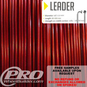 SAPIM LEADER J BEND ORANGE CANDY 14G OR 2.0MM SPOKES