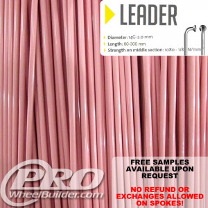 SAPIM LEADER J BEND PINK 14G OR 2.0MM SPOKES