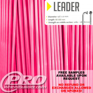 SAPIM LEADER J BEND PINK MAGENTA 14G OR 2.0MM SPOKES