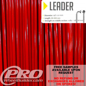SAPIM LEADER J BEND RED 14G OR 2.0MM SPOKES