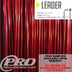 SAPIM LEADER J BEND RED CANDY 14G OR 2.0MM SPOKES