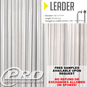 SAPIM LEADER J BEND WHITE 14G OR 2.0MM SPOKES