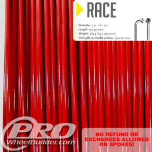 SAPIM RACE J BEND RED DOUBLE BUTTED 14 15 14G OR 2.0 1.8 2.0MM SPOKES