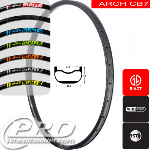 STANS NO TUBES ARCH CB7 CARBON DISC BRAKE 29IN BLACK RIM