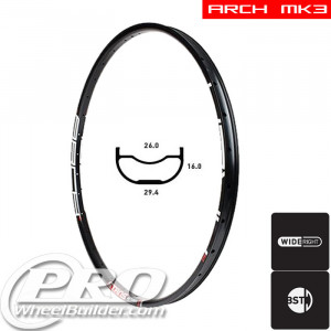 STANS NO TUBES ARCH MK3 DISC BRAKE 26IN BLACK RIM