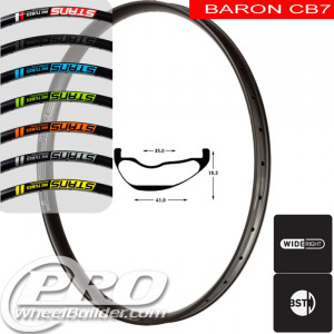 STANS NO TUBES BARON CB7 CARBON DISC BRAKE 29IN BLACK RIM