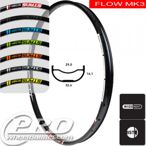 STANS NO TUBES FLOW MK3 DISC BRAKE 29IN BLACK RIM