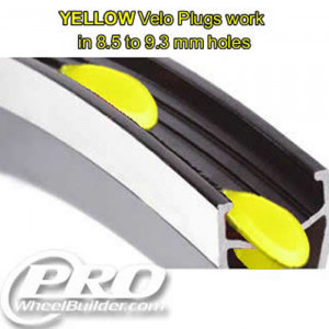 VELOCITY VELO PLUGS YELLOW 8.5MM TO 9.3MM HOLES